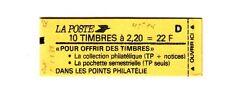 Liberté 2,20 F rouge - Carnet 2376 C 7  daté du 5.5/8/88   -   lettre D -