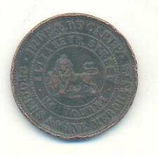 Australie, penny token, Hide & de Carle, vin de Marchands, Melbourne, 1858