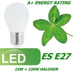 LED 7W 15W ES E27 GLS Edison Screw Light Bulbs Lamp Warm Cool White A+ Lighting