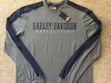 Harley Davidson Embroidered Logo Long Sleeve Gray Shirt Nwt Men's XXL