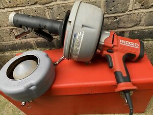 RIDGID K-45 240v HANDHELD DRAIN AUGER CLEANER IN CARRY CASE