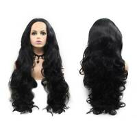 Women Full Wig Brazilian Remy Human Hair Body Wave Silk Black Human Hair Wigs K