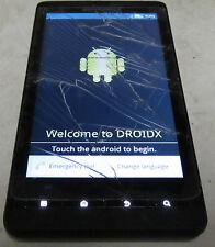 Motorola Droid X - (Verizon) Smartphone Cracked Digitizer - Works - Clean ESN