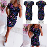 Womens Party UK Loose Holiday Tops Holiday Baggy Party Short Mini Dresses
