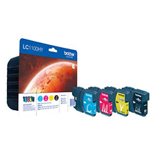 GENUINE AUTHENTIC BROTHER LC1100HY VALUE PACK INK CARTRIDGE 4 PACK LC1100HYVALBP