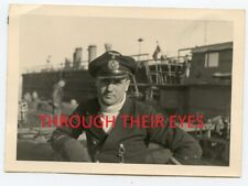 Original WW2 Photograph German u-boat officer who served on U-390 U-boat behind