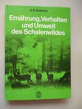Ernährung Verhalten Umwelt des Schalenwildes 1984 Jagd Jagen