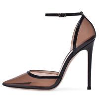 Women Sandals Pointed Toe Heels Transparent Shoes Women Plus Size