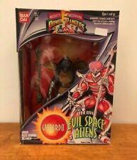 """Mighty Morphin PowerRangers 8"""" Evil Space Alien GUITARDO box has shelf wear 1994"""