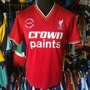 LIVERPOOL 1986 REMAKE FOOTBALL SHIRT CROWN PAINTS THIS IS ANFIELD SIZE ADULT M