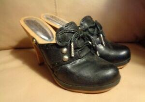 Michael Kors shoes  leather wood heel womens 4.5M