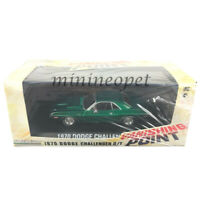 GREENLIGHT 86545 VANISHING POINT 1970 DODGE CHALLENGER R/T 1/43 GREEN Chase