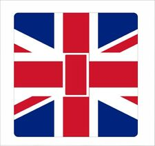 Union Jack 1 -  UK British Flag Light Switch Sticker vinyl cover skin decal GB