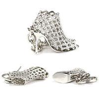 AM_ AM_ EG_ Popular Rhinestone High Heel Shoe Key Chain Keyring Creative Bag Orn
