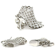 EG_ Popular Rhinestone High Heel Shoe Key Chain Keyring Creative Bag Ornament