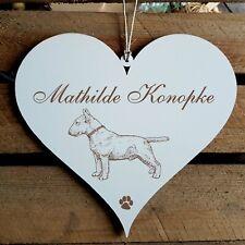 Personalisiertes Schild Herz « BULLTERRIER » Name Türschild Hund Hunde Deko