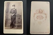 Krull, Neu-Strelitz, Lieutenant von Hartmann Vintage albumen carte de visite, CD
