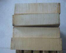 Wood European tone wood block for 1 piece 4/4 size violin scrolls making