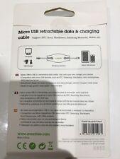 5 X Avantree Viva Micro USB retractable Data & Charging Cable
