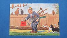 WW2 Fred Buchanan Comic Postcard 1940s Rationing Allotment Seeds GARDENING HINTS