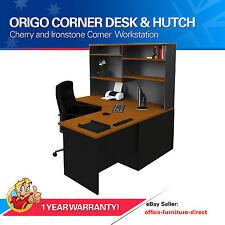 Corner Workstation Office Desk with Hutch, Computer Study Desks, Home Furniture
