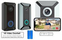 HD 1080p Smart Wireless Phone Door Bell Camera WiFi Smart Intercom Doorbell V6