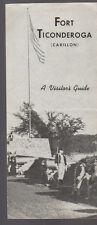 Fort Ticonderoga Visitor's Guide Carillon 1950s Brochure
