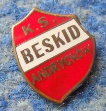 BESKID ANDRYCHOW POLAND FOOTBALL VOLLEYBALL 1970's SMALLER ENAMEL PIN BADGE