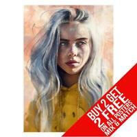 BILLIE EILISH BB8 POSTER ART PRINT A4 A3 SIZE BUY 2 GET ANY 2 FREE