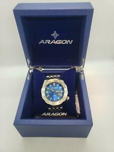 Aragon A081 Blue Sea Charger Automatic 200m Wrist Watch