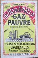 Motor/Gas/Gear/Transmission 1910 French Advertising Postcard - Paris, France
