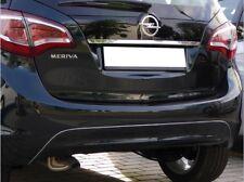 Chromed trim for Vauxhall Meriva B rear bumper Opel Chrome diffusor from 06/2010