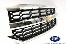 2016-2018 Silverado 1500 Bright Chrome Grille 84134045 CHEVROLET Embossed On Top