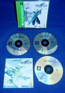 PlayStation 1; Final Fantasy VII, w/ Manual, 3 Disc VG-LN, VG, Free Shipping