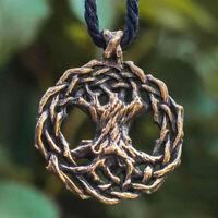 Norse Viking Tree Of Life Pendant Necklace Chain Women Men Viking Wolf Jewelry