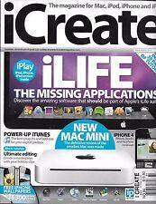 iCreate magazine iLife apps Power iTunes Ultimate editing Mac mini iPhone iPlay