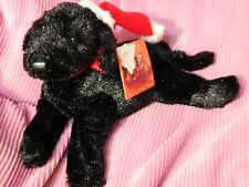 Dakin Gustav Black Puppy Dog Shiny Special Holiday Home Collection TAGS 9""