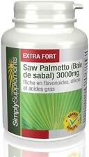 Saw Palmetto 3000mg - Santé des hommes - 180 Comprimés - Simply Supplements