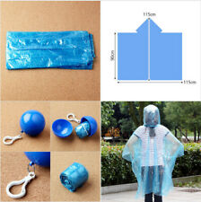 2Portable Outdoor Raincoat Ball Camping Fishing Tourism Travel KeyChain Rainwear