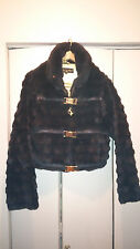 BABY PHAT -Beautiful FAUX FUR  JACKET SIZE: XL - ZIP UP FRONT with 3  BUCKLES