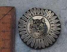 Katze Messing Ornament Buchbinden Prägen Prägestempel Prägung Blume Sonnenblume