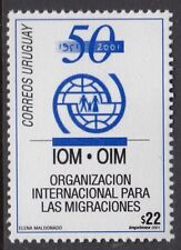 URUGUAY : 2001 50th Anniversary of Organisation for Migration SG2680 MNH block