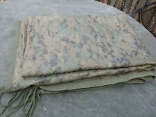 "USMC MARPAT Woodland Poncho Liner 82"" x 62"" Good Condition"