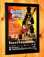 Guitar Hero III 3 Legends of Rock Small Poster / Old Ad Page Framed PS2 PS3 Xbox