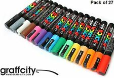 UNI POSCA POSTER PAINT MARKER PEN SET - PC-5M - 27 PACK - FAST SHIPPING