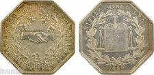 Notaires de Provins, jeton argent par Barre, 1824, TRES RARE - 2