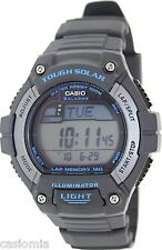 Casio WS220-8A Mens Solar Powered Led Light Sports Watch - LAP MEMORY 120 NEW
