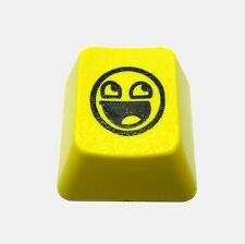 Yellow Awesome Face Novelty Doubleshot Cherry MX Keycaps / Key cap