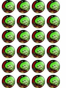 24 X GROTBAGS TV SHOW  RICE PAPER BIRTHDAY CAKE TOPPERS