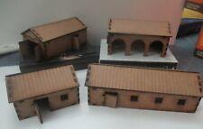 28mm  Farm (4 Buildings) Scenery Medieval WW2 WW1 Fantasy Laser Cut MDF 3mm